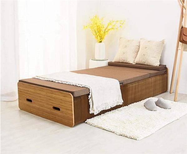 Creative Kraft Paper Folding Bed