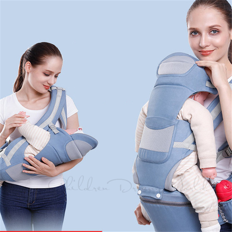 Ergonomic Baby Carrier Infant Kids Baby Hipseat Wasit Sling Front Facing Kangaroo Bag Wrap Carrier for Toddle Travel 0-48Months
