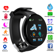 цена на Bluetooth Smart Watch D18 Heart Rate Blood Monitor SmartWatch Fitness Tracker kids Women SmartWatch for Android IOS SmartWatch
