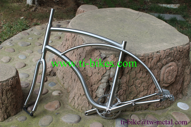 Bicycle-Frame Chian-Ring Spider Titanium-Cruiser No with Normal-Head-Tube And Sliding