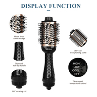 Electric Hair Brush One Step Hair Dryer Styler Brush Hot Air Iron Hair Straightener Comb Automatic Wave Formers Hair Curler 2