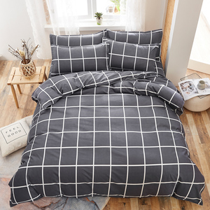 Image 1 - Bedding Set Fashion house  luxury bed cover sheet Pillowcase Wavy stripes Home textile  Family Bed Linens  High Quality