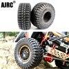 2 4 pièces 1.9 pouces 125mm 1/10 pneus en caoutchouc de chenille de roche pour D90 TRX 4 Defender TRX6 G63 SCX10 II AXIAL 90046 TF2 RC accessoires de voiture