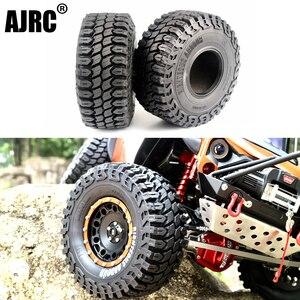 Image 1 - 2 4Pcs 1.9 Inch 125mm 1/10 Rock Crawler Rubber Tires for D90 TRX 4 Defender TRX6 G63 SCX10 II AXIAL 90046 TF2 RC Car Accessories