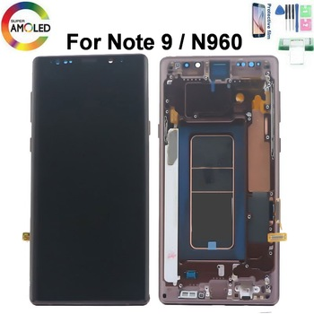 Original AMOLED 6.4'' LCD For SAMSUNG Galaxy Note 9 Lcd Display Note9 N960D N960F Touch Screen Digitizer Assembly +  Dead pixels with line original amoled display for samsung galaxy note9 lcd n960 n960f display touch screen replacement parts screen