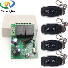 433MHz Universal Wireless Remote Control DC6V 12V 24V 2CH rf Relay and Transmitter Remote Garage Gate Motor Light Home appliance cheap WenQia Lighting Electric Door Automated curtains Switch RoHS CN(Origin) 433 MHz DC 5V~30V 10Amp Safety Remote Control System for Garage Door Opener