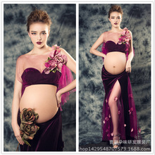 Kaguster Summer Sleeveless Maternity Photography Prop Pregnancy Dress tees For Photo Shoot Pregnant