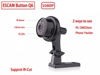 2019 Button Q6 2MP wireless mini camera ONVIF 2.4.2 support Mobile view motion detector and Email alarm up to 128G YOOSEE