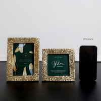 Creative Home Furnishings Gold Silver Resin Picture Frame Ornaments Wall Mounted Wedding Photos Murals Frame Furnishing Ornament