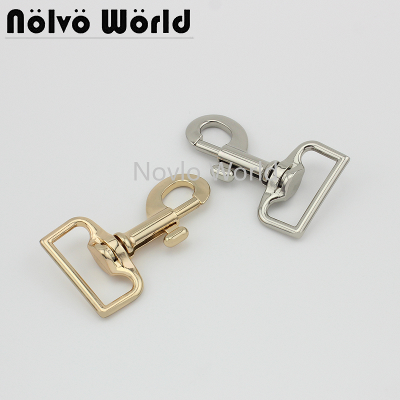 Wholesale 500pcs,4 Colors Accept Mix Color,71*33mm 1-1/4 Inch, Metal Snap Hook Handbag Lobster Buckle Swivel Clasp Hook Hardware