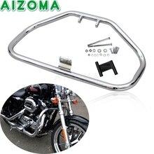 """Chrome 1.25 """"motocicleta acidente barra de proteção do motor da estrada guarda para harley sportster xl 1200 883 48 72 xl1200 xl883n 84 03"""