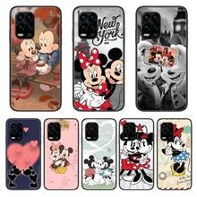 Disney mickey mouse caso de telefone para xiaomi redmi nota 9s 8 7 6 5 a pro t anime capa preta silicone volta muito sênior