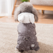 Get more info on the Hipidog Cotton-Pad Winter Snow Dog Clothes Four-Leg Down Alternative Coats with Hoodie Small Dogs Cats