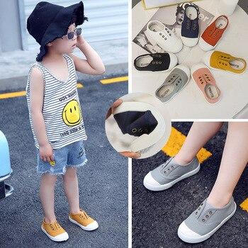 Zapatos casuales para niños, zapatillas de lona para niños, zapatos planos de colores caramelo para niños pequeños, zapatos transpirables suaves a la moda, gran oferta