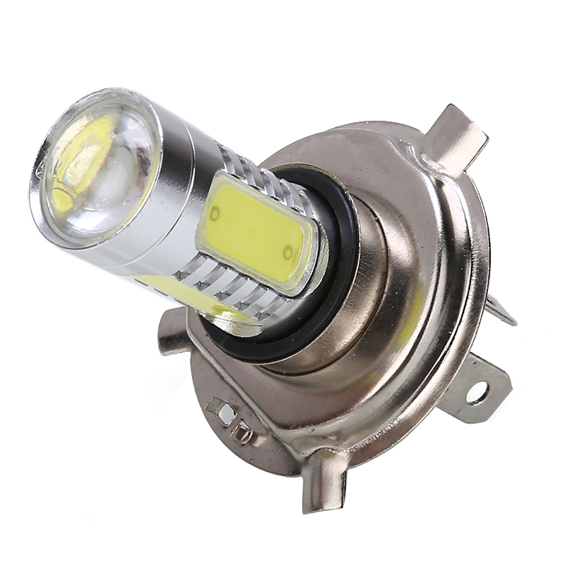 1PC H4 9003 6000K Motorcycle Headlight 30W High Power COB LED Bulb White Hi/Low Beam For Off-road Moped ATV