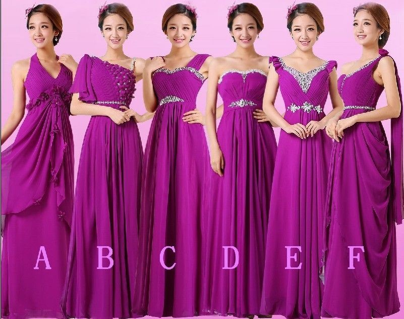 Free Shipping 2016 Red Purple Bodycon Dinner Vestido De Festa Formal Gowns Bride Custom Plus Size Beading Bridesmaid Dresses