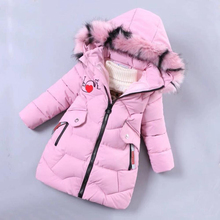2020 Girls Down Jacket Childrens Winter Clothing Kids Warm Thick Coat Windproof  Jacket for Girl Cartoon Parka Winter Outerwear