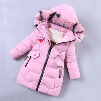 2020 Girls Down Jacket Children's Winter Clothing Kids Warm Thick Coat Windproof Jacket for Girl Cartoon Parka Winter Outerwear
