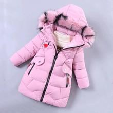 Chaqueta de plumas para niña, ropa de invierno para niño, abrigo grueso cálido para niño, chaqueta a prueba de viento para niña, Parka con dibujos, ropa de invierno 2020