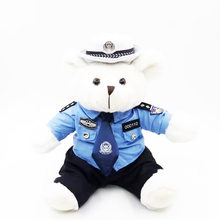 Shu Li Doll Bear Plush Toys Police Doll Logo Customizable(China)