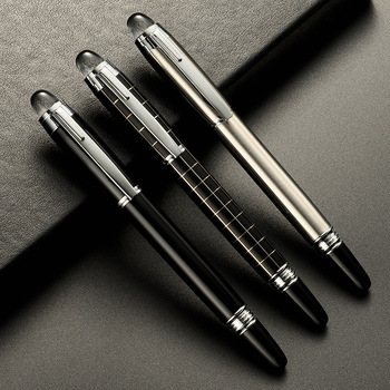 Luxury Metal Lattice Black Signature Ballpoint Pens for Business Writing Office Supplies Stationery Customized Logo Gift 7colors new metal ball pens 50pcs a lot for sale customized gift items for birthday party