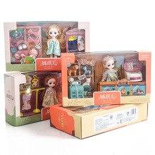 16 CM DIY BJD Dolls Gift Pack Different Doll Life Scene Pretend Play BJD Dolls Toys 1/8 Joint Movable BJD Dolls For Girls Toys