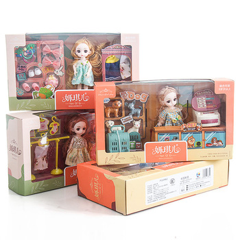 16 CM DIY BJD Dolls Gift Pack Different Doll Life Scene Pretend Play BJD Dolls Toys 1/8 Joint Movable BJD Dolls For Girls Toys 35cm 1 6 bjd sd bbgirl doll toys high quality joints dolls diy girl dolls blyther dolls toys birthday gifts for child children