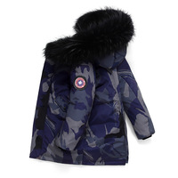 Children's down jacket boy's long 2019 thickened girl's big fur collar coat ND019