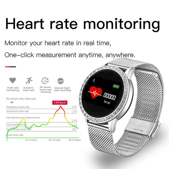 New Waterproof Smart Watch Men Women Heart Rate Blood Pressure Health Monitor Pedometer Sport Smartwatch Replaceable strap