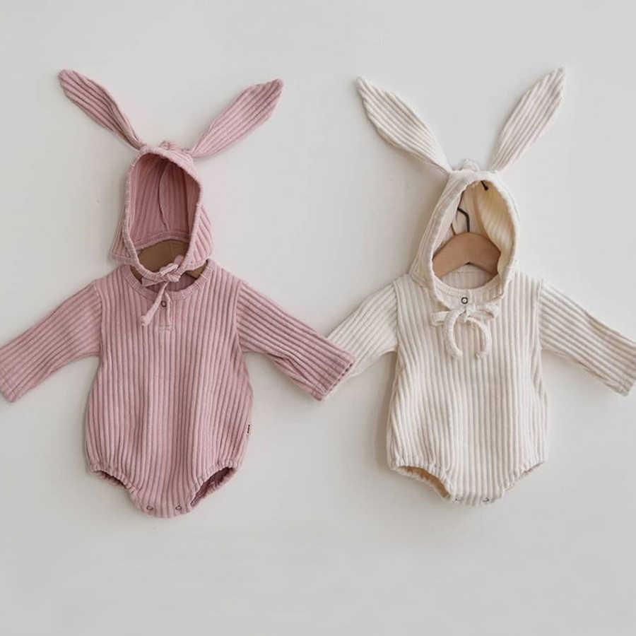 Konijn Baby Kleding Meisje Romper Baby Lente Kleding Pasgeboren Lange Mouwen Jongens Jumpsuit Baby Meisje Kleding Zuigeling Onesie Kostuum