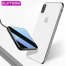 ELFTEAR D72 Mini Wireless Power Bank Ultra Thin Built in 3In1 Cable Fast Charger Powerbank Portable External Batter For Iphone