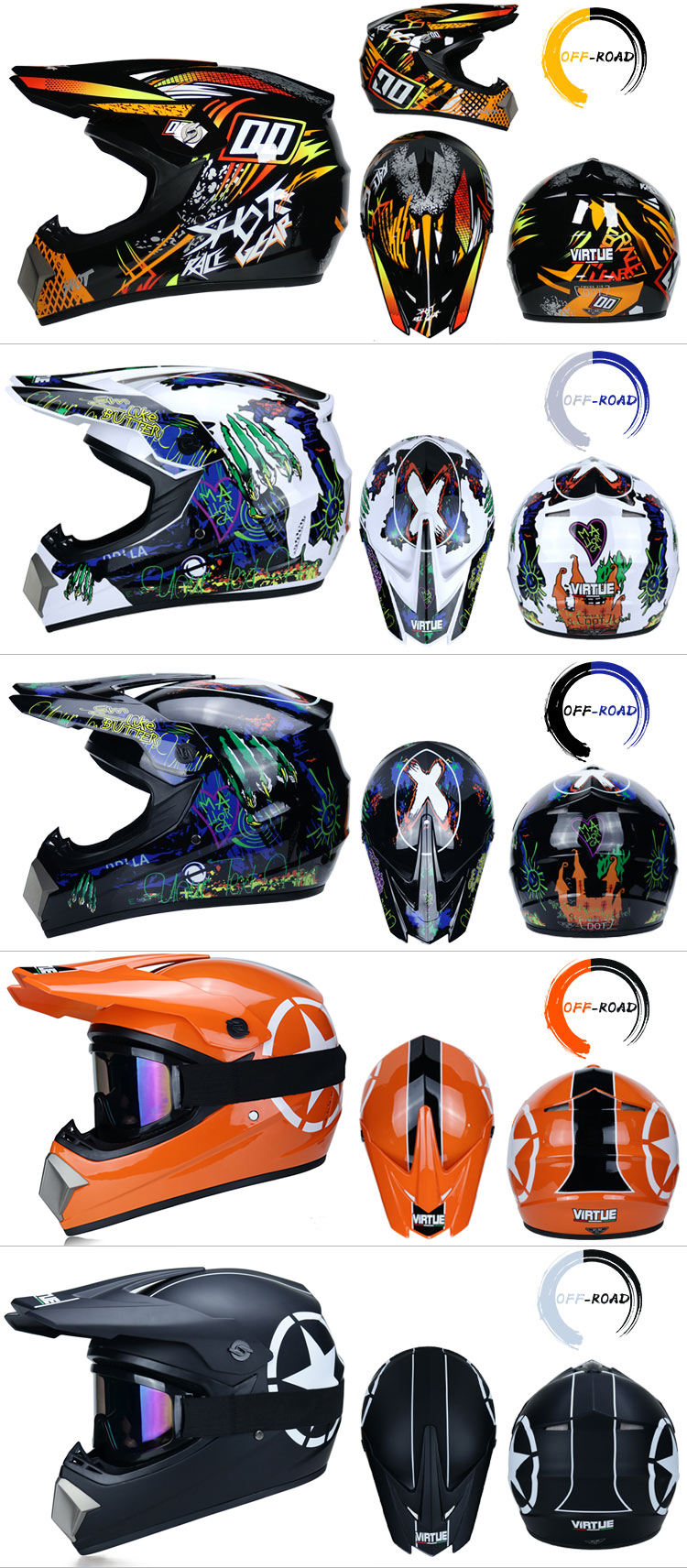Professional Lightweight Off-road Motorcycle Helmet Racing Bike Children ATV Off-road Vehicle 6