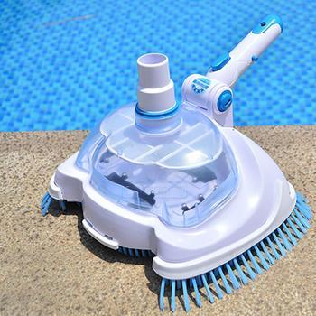 Пылесос для бассейна с всасывающей головкой, очиститель для бассейна, Гибкий ручной очиститель для бассейна, щетка для вакуумной уборки, чи...