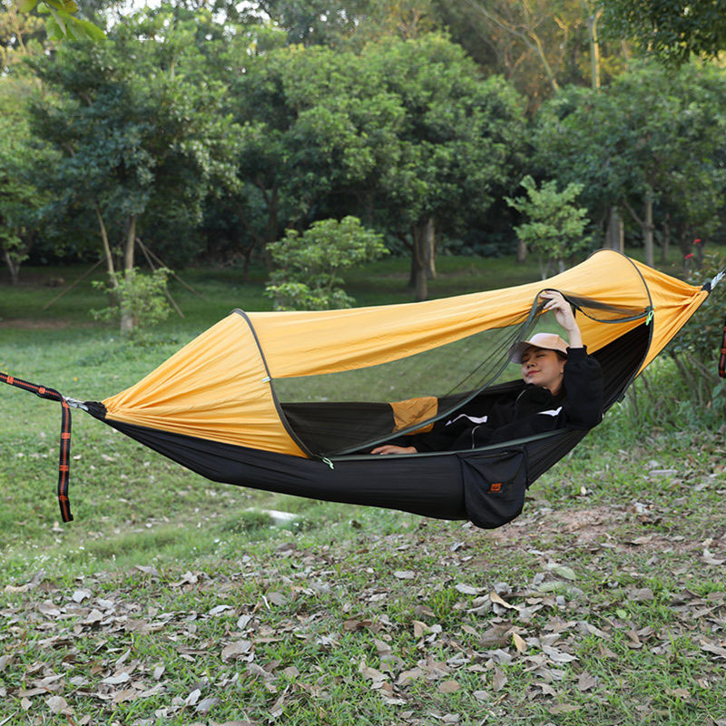 Parachute Cloth Hammock More Function Sunshade Defense Mosquito Outdoors Campus Swing Quick Opening Suspended Tent