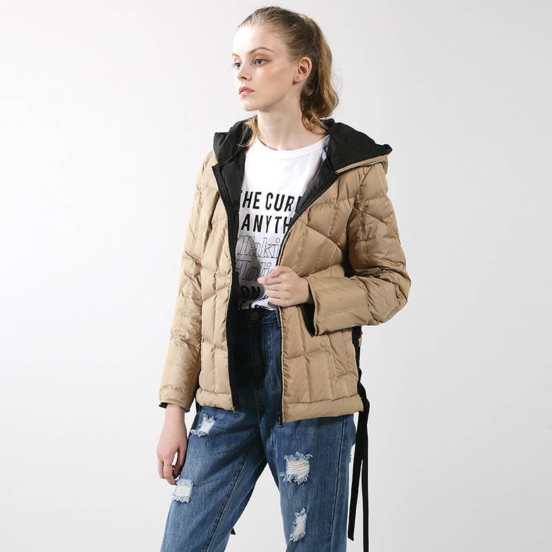 Ma'am Goose   Down     Down   Jackets Keep Warm Loose   Coat   Leisure Time Even Hat Suit-dress
