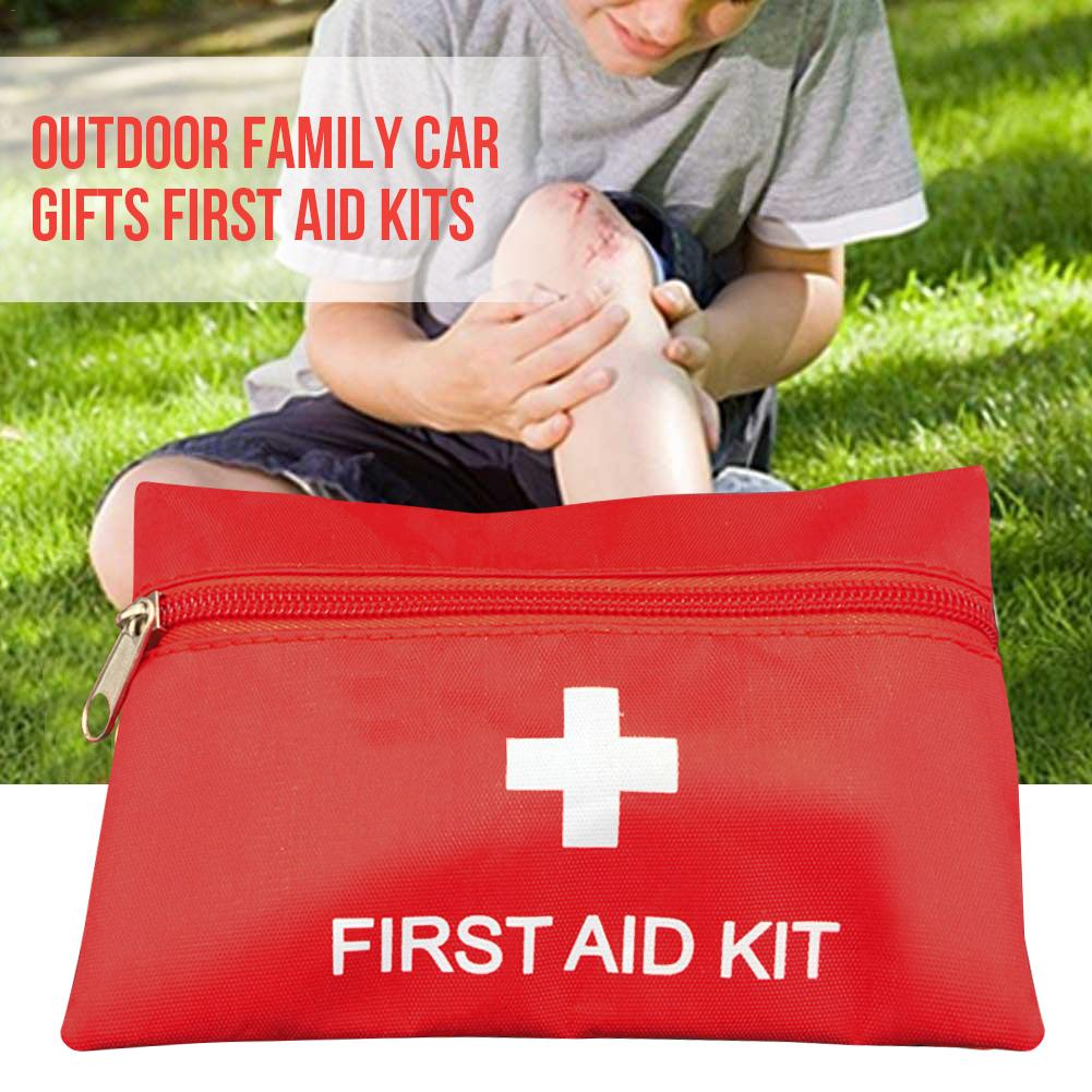 12PCS/Set Small Waterproof Emergency Kit Set Mini First Aid Kit Travel Home Office Vehicle Camping Workplace Child Care Hiking