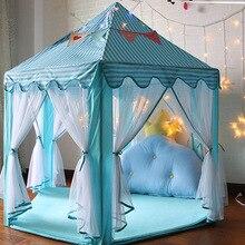 Принцесса Палатка игровой дом игрушка большая детская комната ребенок Крытый шестиугольная дышащая авторское право мешок город