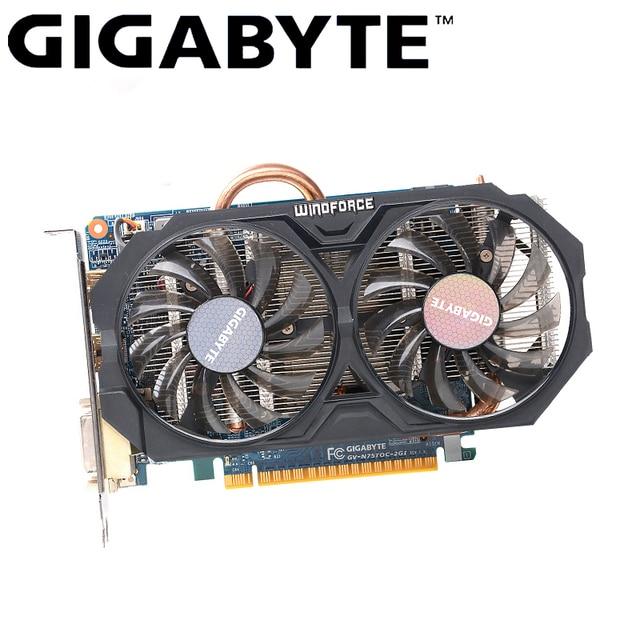GIGABYTE GTX 750 Ti Original Graphics Gamer PC Card with NVIDIA GeForce GTX 750Ti GPU 2GB GDDR5 128 Bit Video Card Used Card|Graphics Cards|   -