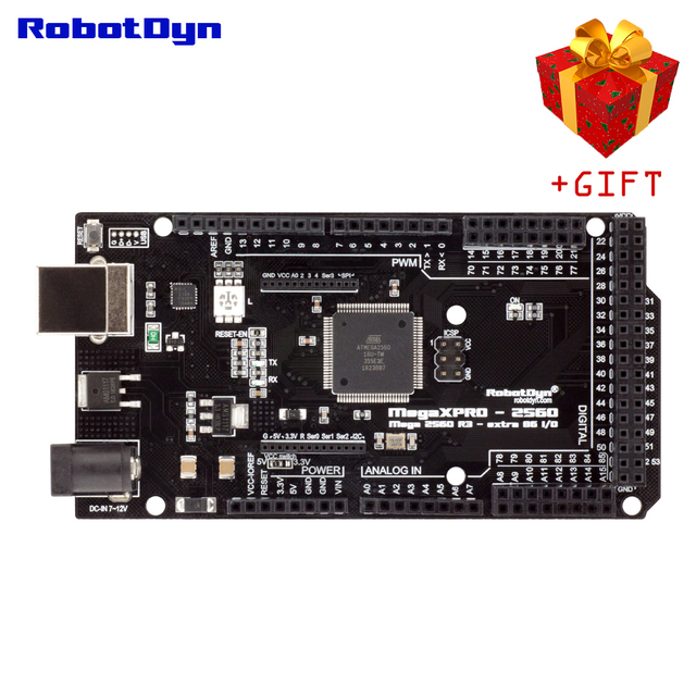 Mega XPro 2560 R3 extra 86 we/wy, USB UART CP210x/ATmega2560 16AU, LED RGB, 5V