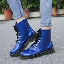 цены на women boots lace up ankle boots platform round toe pu leather vintage shoes autumn new plus size casual woman booties c04 в интернет-магазинах