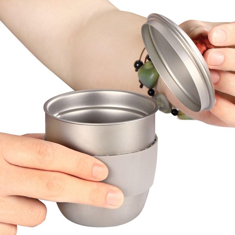 café recipiente com chá infusor filtro titânio café