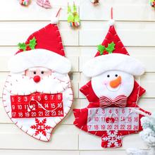 Christmas Flannel Cloth 3D Hanging Advent Calendars Countdown Wall for Indoor Decorations Hotel