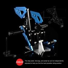 все цены на Footrests Accessories Parts Moto Sets Rearset Foot Rest Pegs Motorcycle CNC Rear Adjustable Footrest Passenger Rear