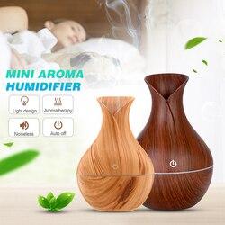 130ml aparência criativa usb led ultra-sônico aroma umidificador difusor de óleo essencial abs pp requintado aroma terapia purificador novo