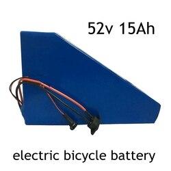 Batterie Lithium 52V, 500/750/1000W, pour scooter électrique, 15ah, 51.8v, avec chargeur BMS 30a