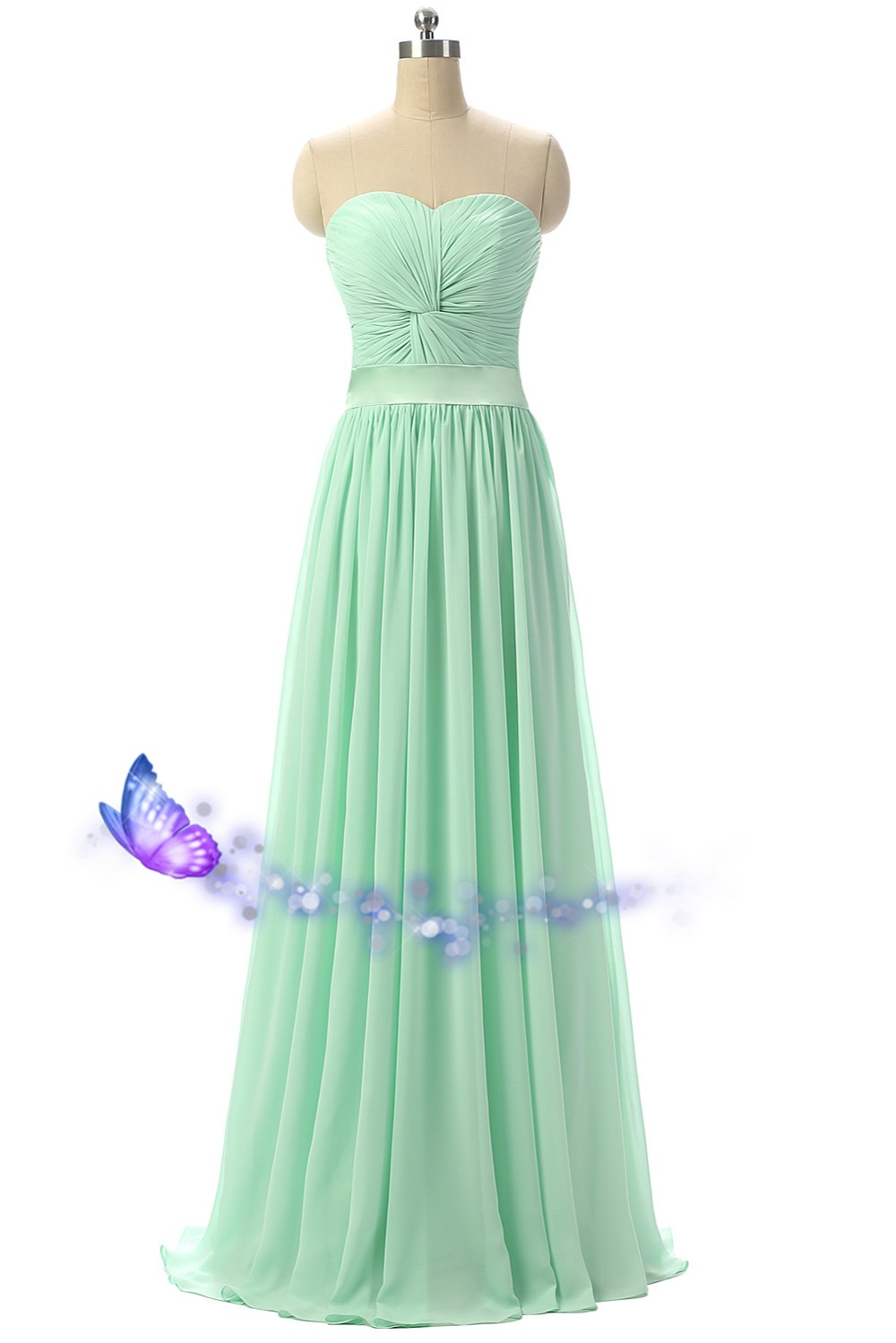 Free Shipping Long Mint Green Bridesmaid Dresses 2016 Vestido Longo Cheap New Sweetheart Pleat Weddings Party Gown Real Photos