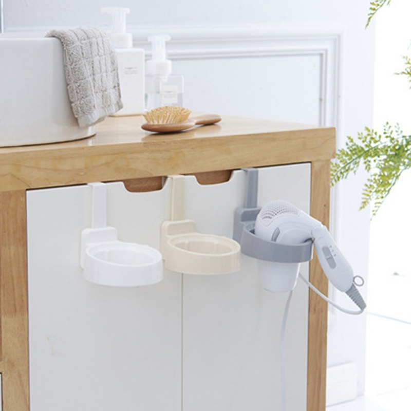 Фен стеллаж для хранения шкафчик с дверцей, держатель для волос, настенный держатель для ванной комнаты, полка для хранения X