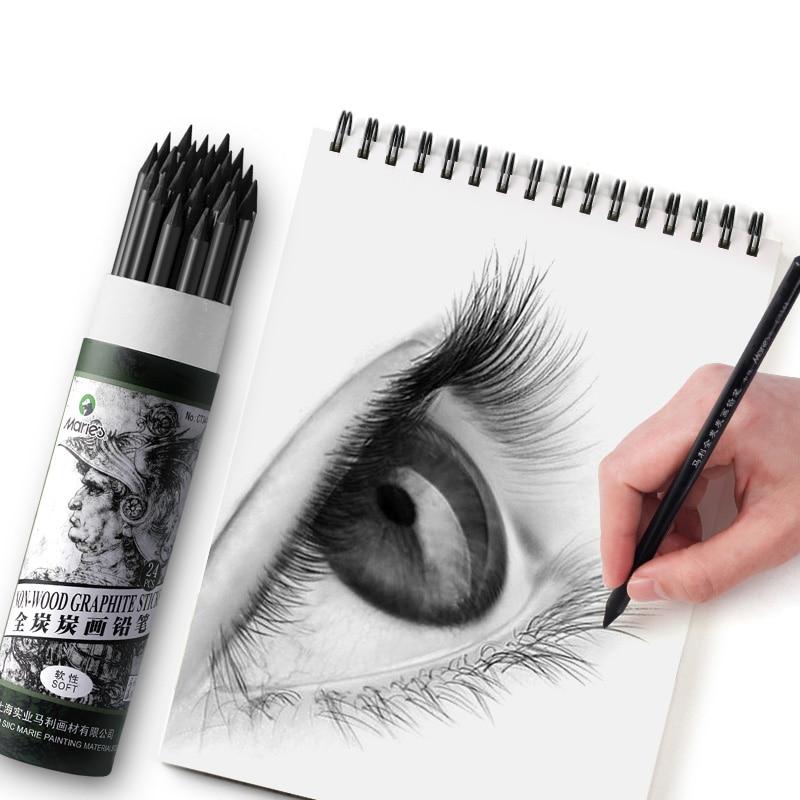 1 шт. мягкий не-деревянный карандаш для рисования древесного угля профессиональная манга Sketc ручка нетоксичные эскизные карандаши товары дл...