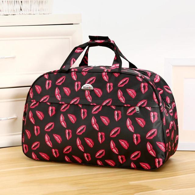 Big Capacity Women Travel Bags Men Luggage Travel Duffel Bags Nylon Waterproof Daily Travel Handbag Female Flower Print HandBag