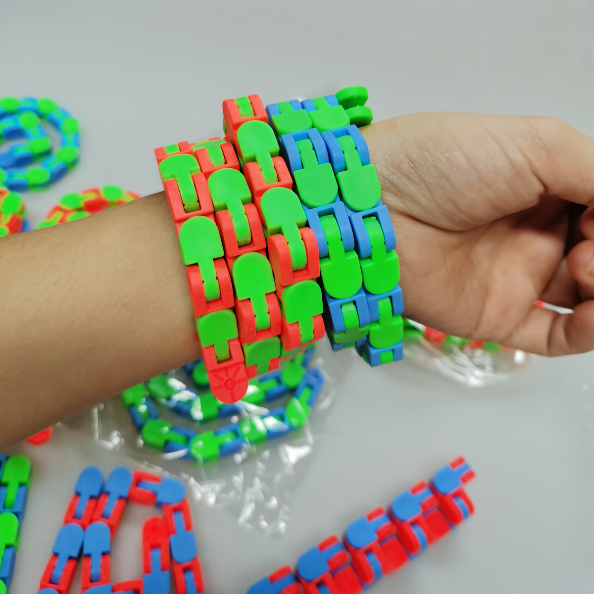 Bracelet Fidget-Toys Decompression Sensory Children Adults DIY 1PCS 48 48-Segment-Chain